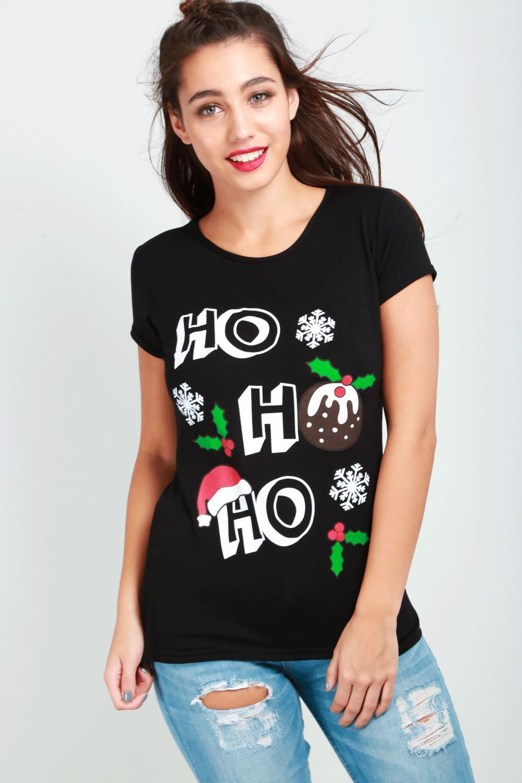335293e7653 Womens Xmas Round Neck Ladies Funny Cap Sleeve 2 Reindeer Christmas T Shirt  Top Ladies Funny Neck