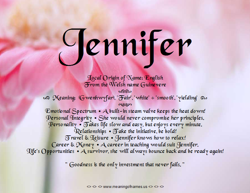Meaning Of Names: Search results for Jennifer | Meaning Of ...