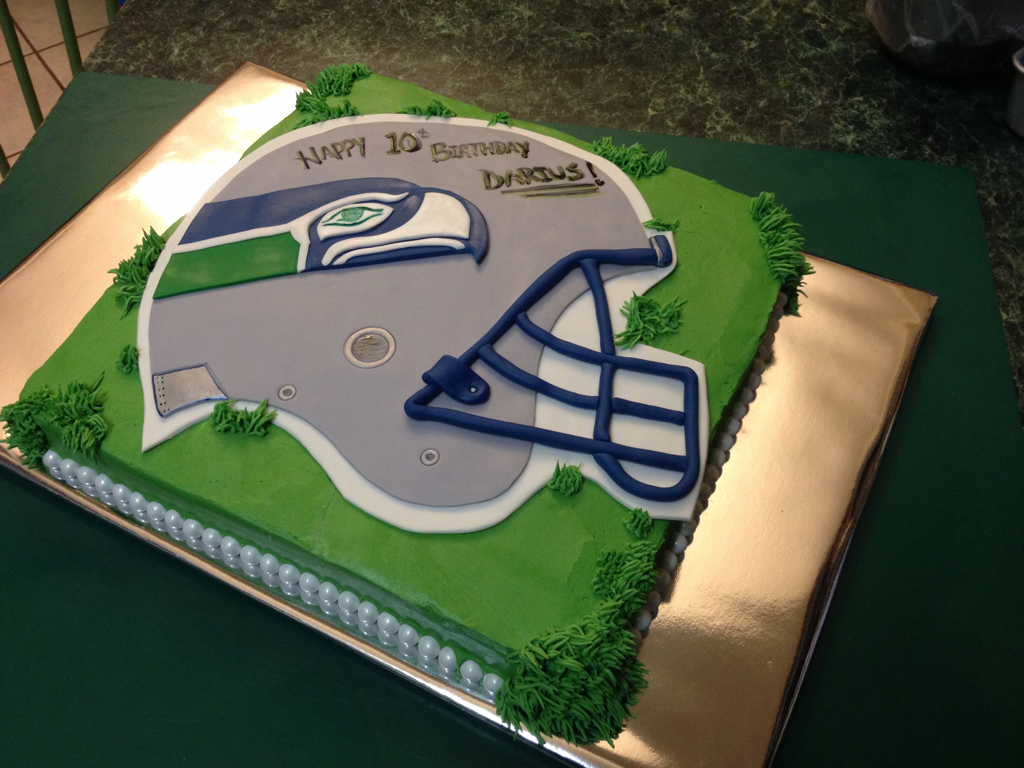 Seattle Seahawks Birthday Helmet Cake Super Bowl