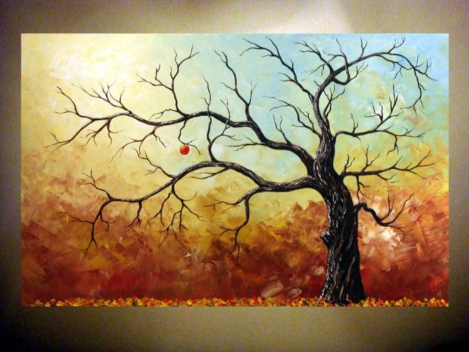35 stunning and beautiful tree paintings for your for Inspirational paintings abstract