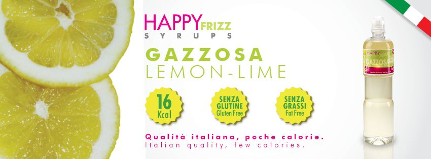 HAPPY FRIZZ SYRUPS LEMON-LIME Find lots of funny recipes by HAPPY FRIZZ on http://www.shophappyfrizz.com/en/ricette/