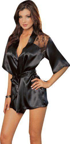 d69e92c05e Sexy Black Kimono Intimate Sleepwear Robe Set - 3 Piece Lingerie Dreamgirl.   20.31. Hand wash