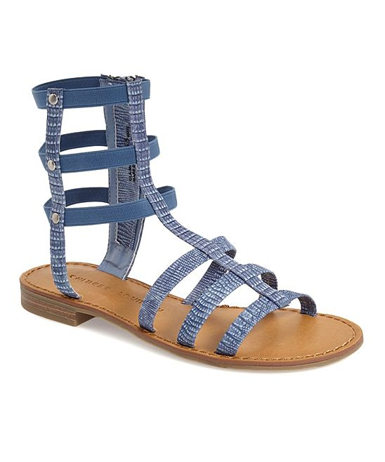 dcd08bc6f613 Chinese Laundry Denim Blue Gemma Gladiator Sandal