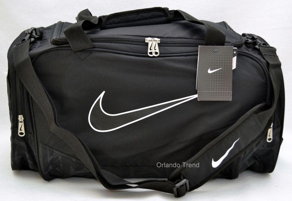 d4b430c7352e Nike Duffel Gym Bag Brasilia 5 Black Medium Duffle Travel Men Women Boys  Girls  Nike  DuffleGymBag  OrlandoTrend