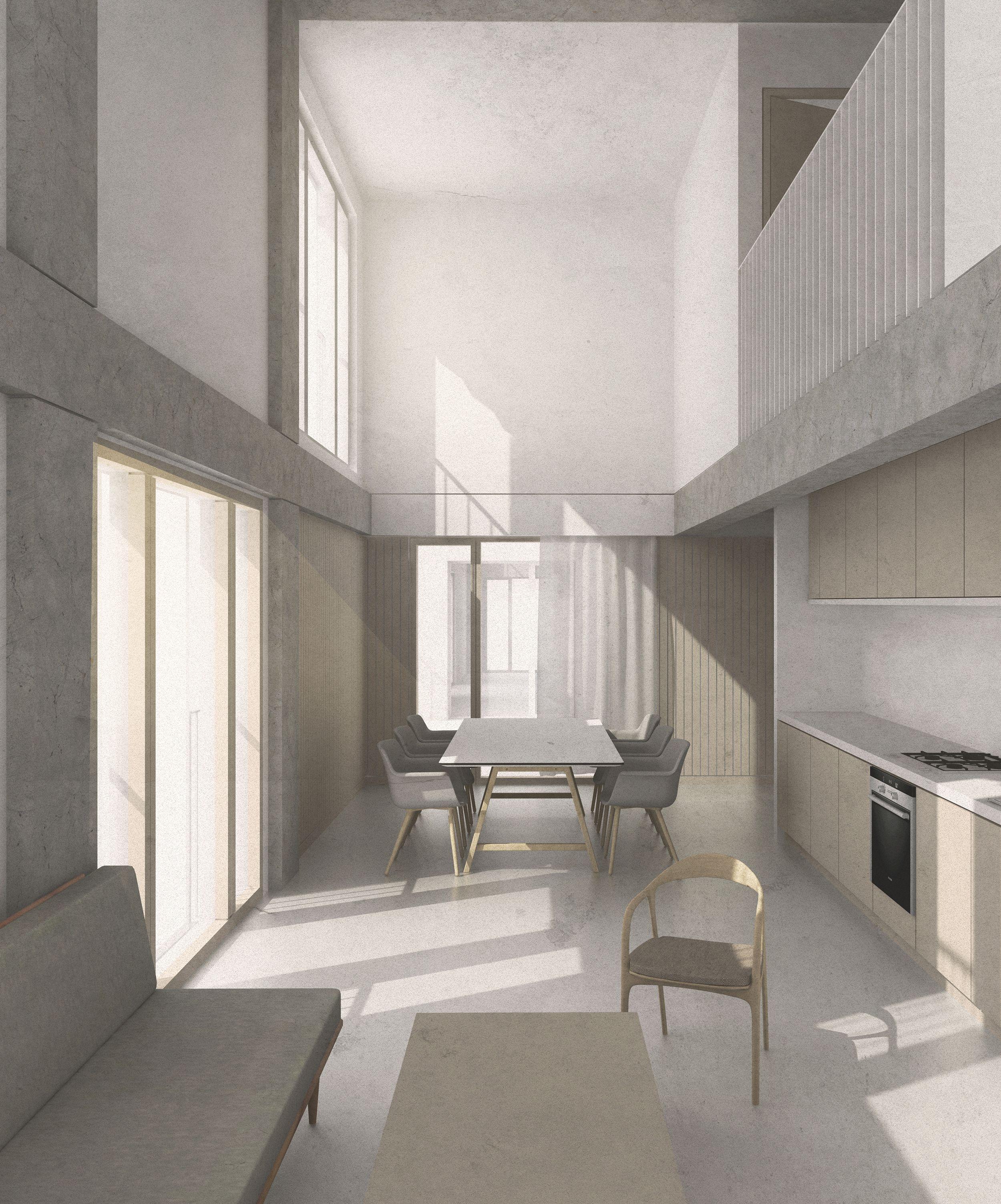 Interior Flexible Cooperative Housing In Hackney Wick Karabo Turner, Diploma