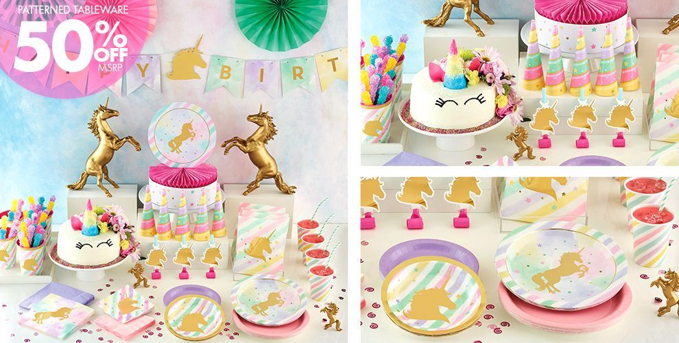 Sparkling Unicorn Party Supplies Unicorn party Pinterest
