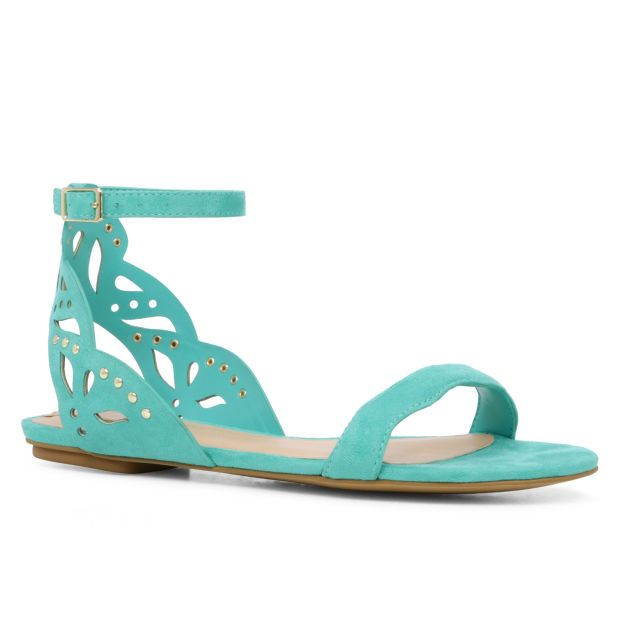 Aldo LILLYWHITE laser cut flat sandal ($55 at aldo.com) – also in