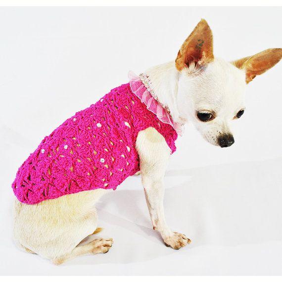 Rosa perro vestidos con cristal lujo Boutique taza de por myknitt ...