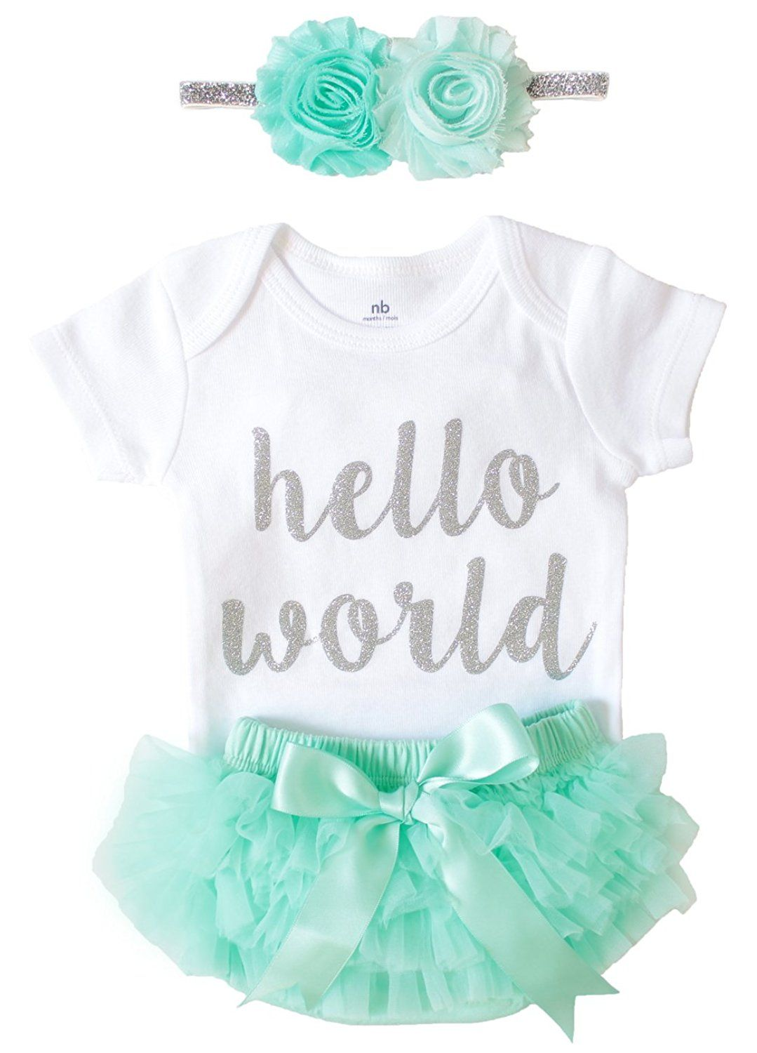 ecefad292 Amazon.com  OoSweetCharlotteoO Newborn Baby Girl Coming Home Outfit ...