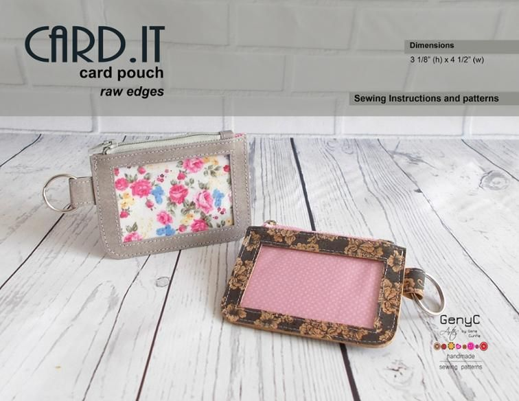 Free Sewing Pattern: Card Pouch | Quilting | Pinterest | Cartucheras ...