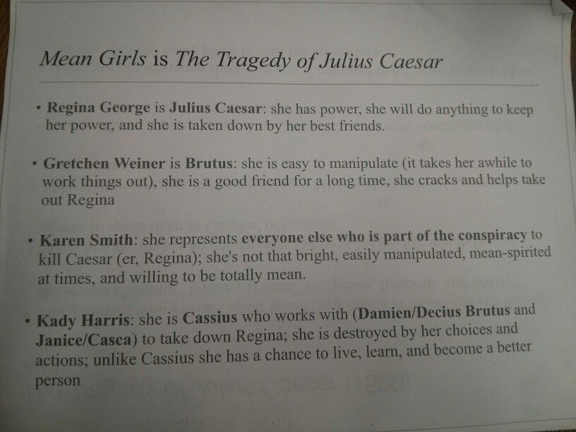 mean girls julius caesar clip to show during act english mean girls is the tragedy of julius caesar