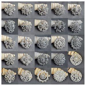 Wholesale Brooch 10 100 Pcs Sliver Rhinestone Brooch Crystal Brooch
