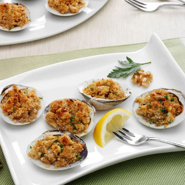 baked clams with walnuts  recipe  food recipes food