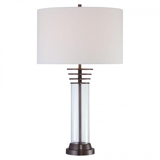 George Kovacs 1 Light Table Lamp In Harvard Court Bronze Finish P1609 281 Lamp Table Lamp Light Table