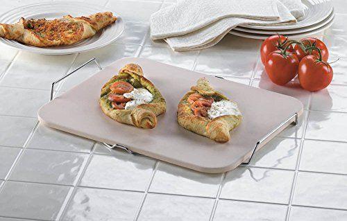 Ghp 12x15 Rectangular Ceramic Artisan Pizza Stone W Cooling Rack