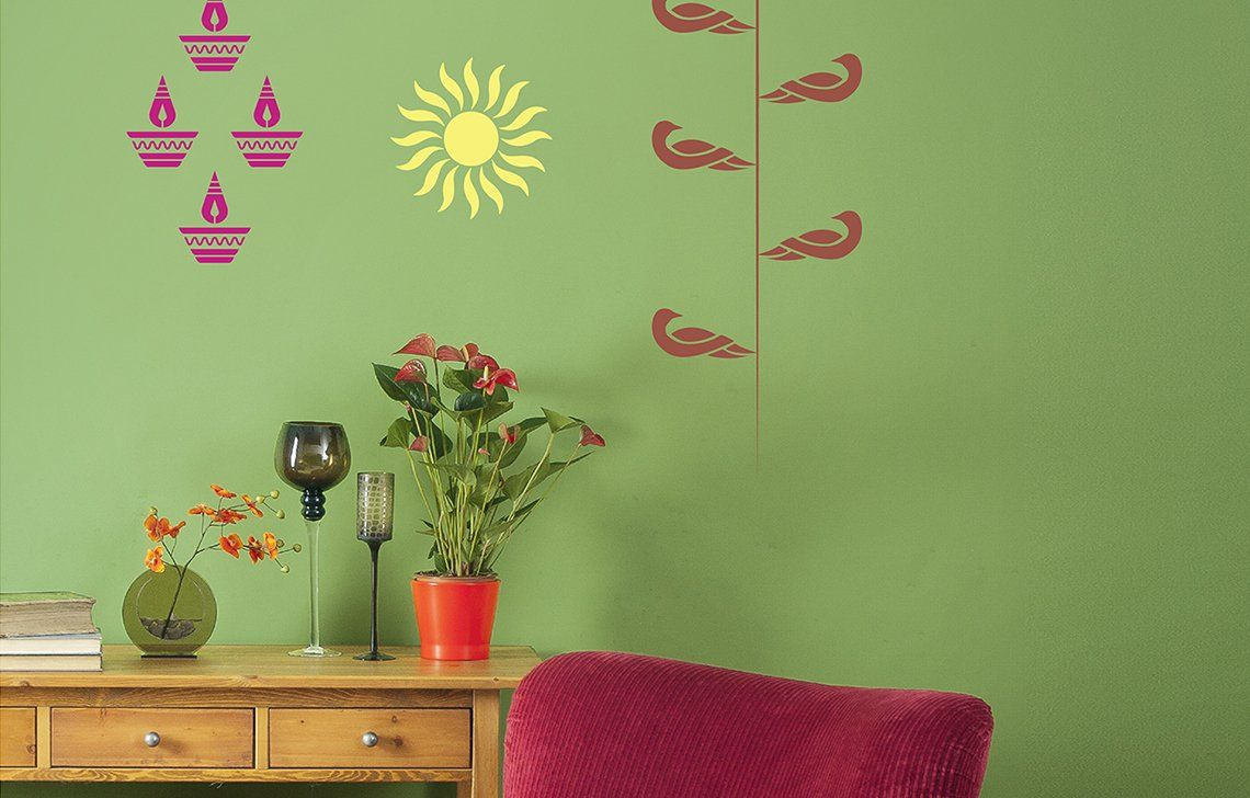 Buy Asian Paints Royale Play Wall Fashion Kit 2 Stencil Wall Sticker For Home And Office Wall Decor Online At Office Wall Decor Asian Paints Wall Decor Online