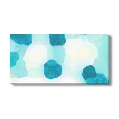 """Gallery Direct 'Lucid Blue' by Christine Wilkinson Painting Print on Wrapped Canvas Size: 18"""" H x 36"""" W x 1.5"""" D"""