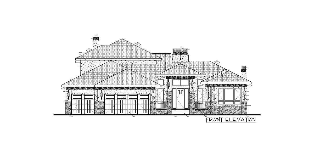 Plan 81636AB: Amazing Prairie Style Home Plan | Electrical plan ...