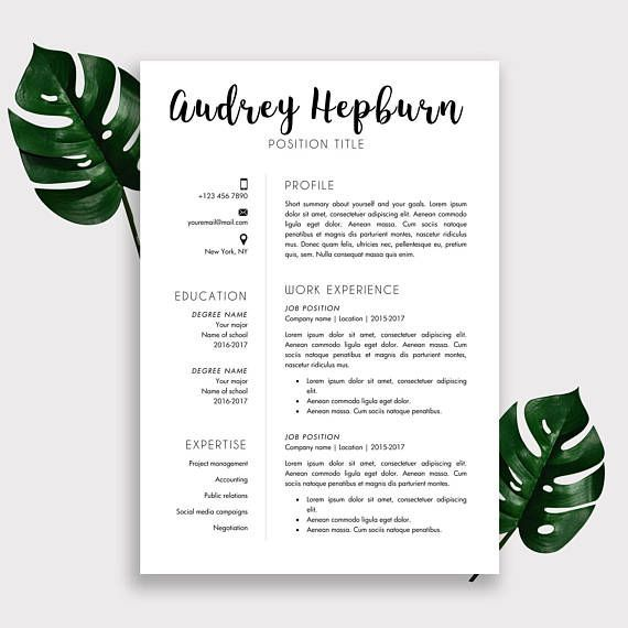 CV Sjabloon #Motivatiebrief Sjabloon #CV Template | #ad | Tips