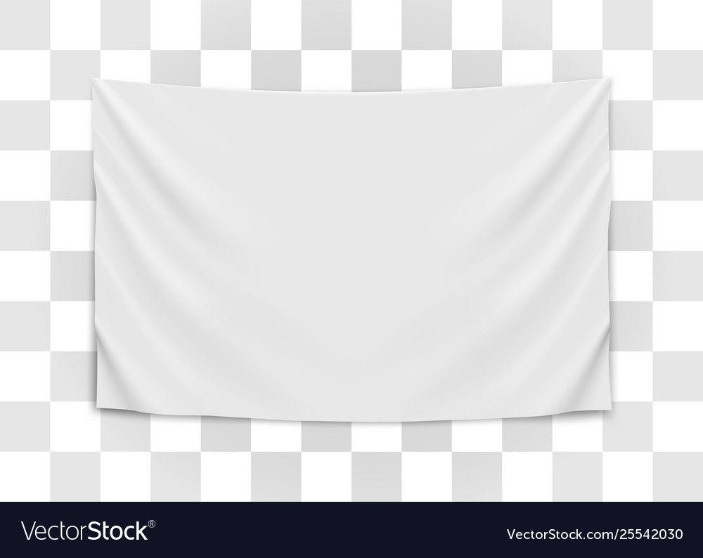 Hanging Empty White Flag Blank Flag Concept Vector Image Affiliate White Flag Hanging Empty Ad Paint Vector Icon Set Vector Retro Font