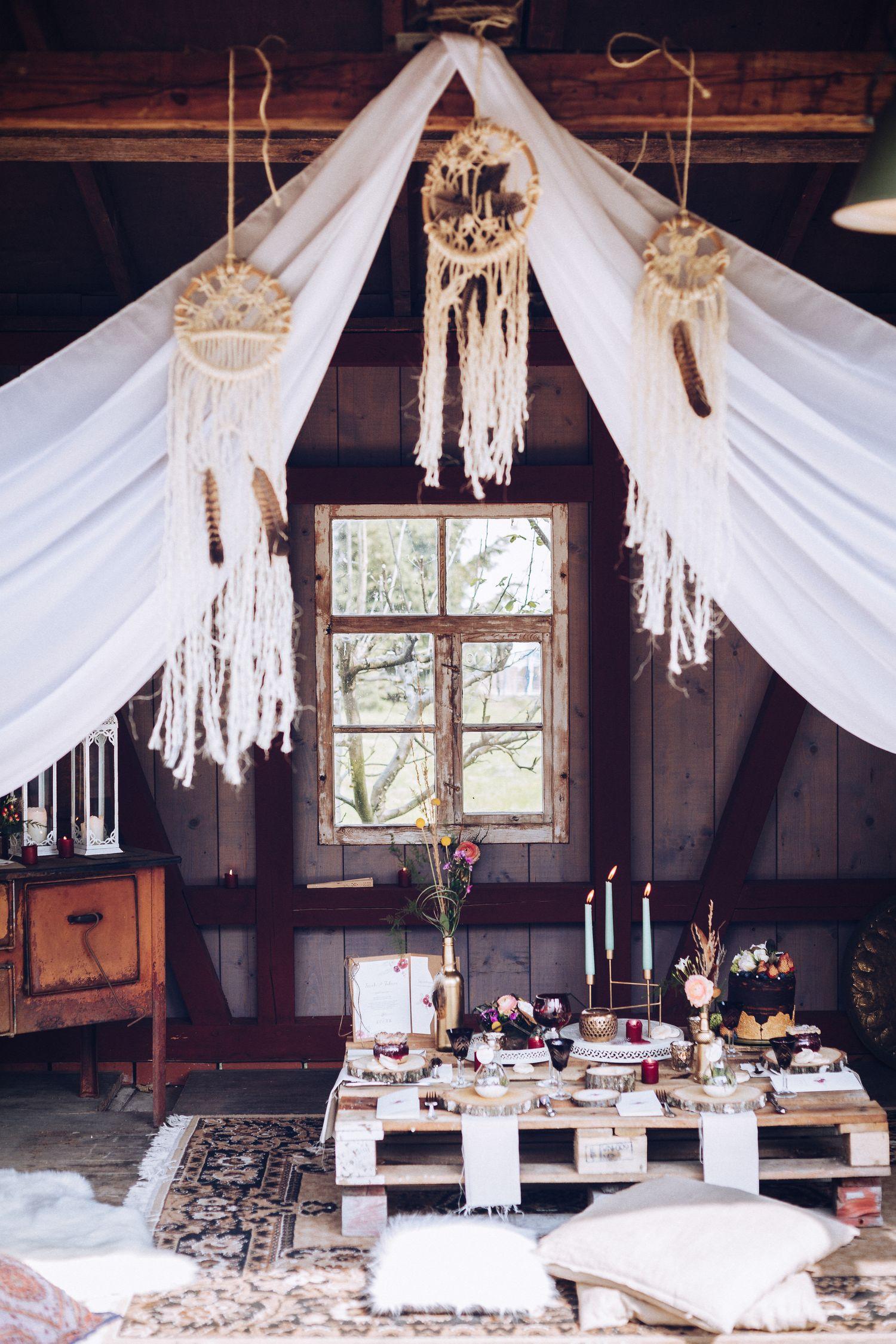 Boho Wedding Inspirationen für perfekte Hippie Hochzeit