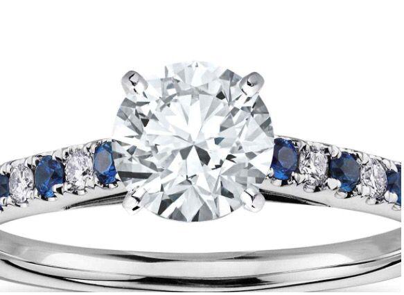 Sapphire and diamond strand