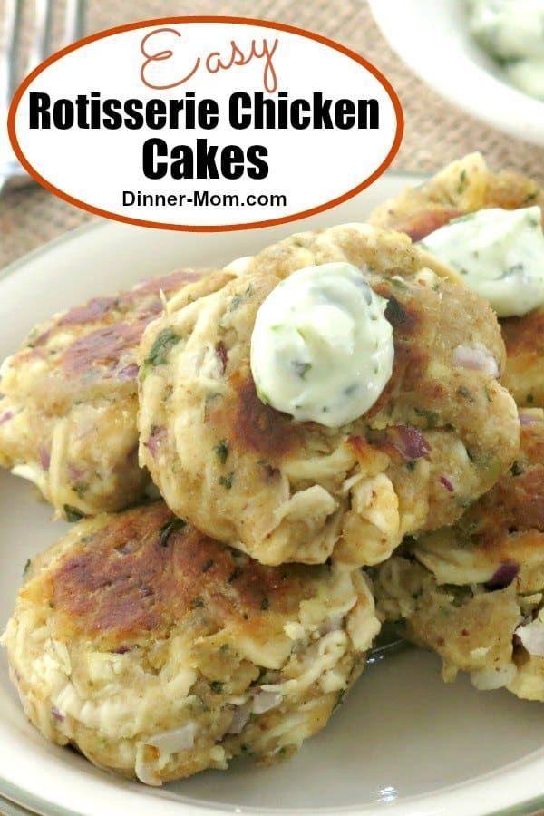 Chicken Cakes with Cilantro Garlic Mayo  - Keto -