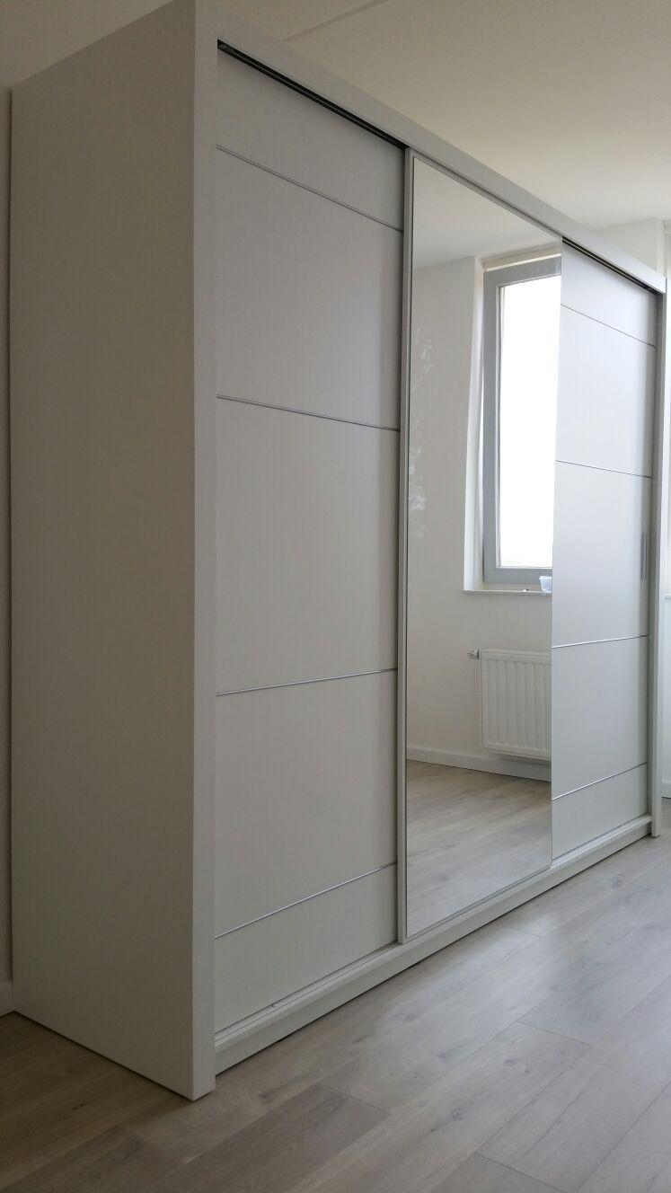 Wonderbaarlijk Moderne zweefdeur kledingkast met spiegel 250 cm breed GQ-96