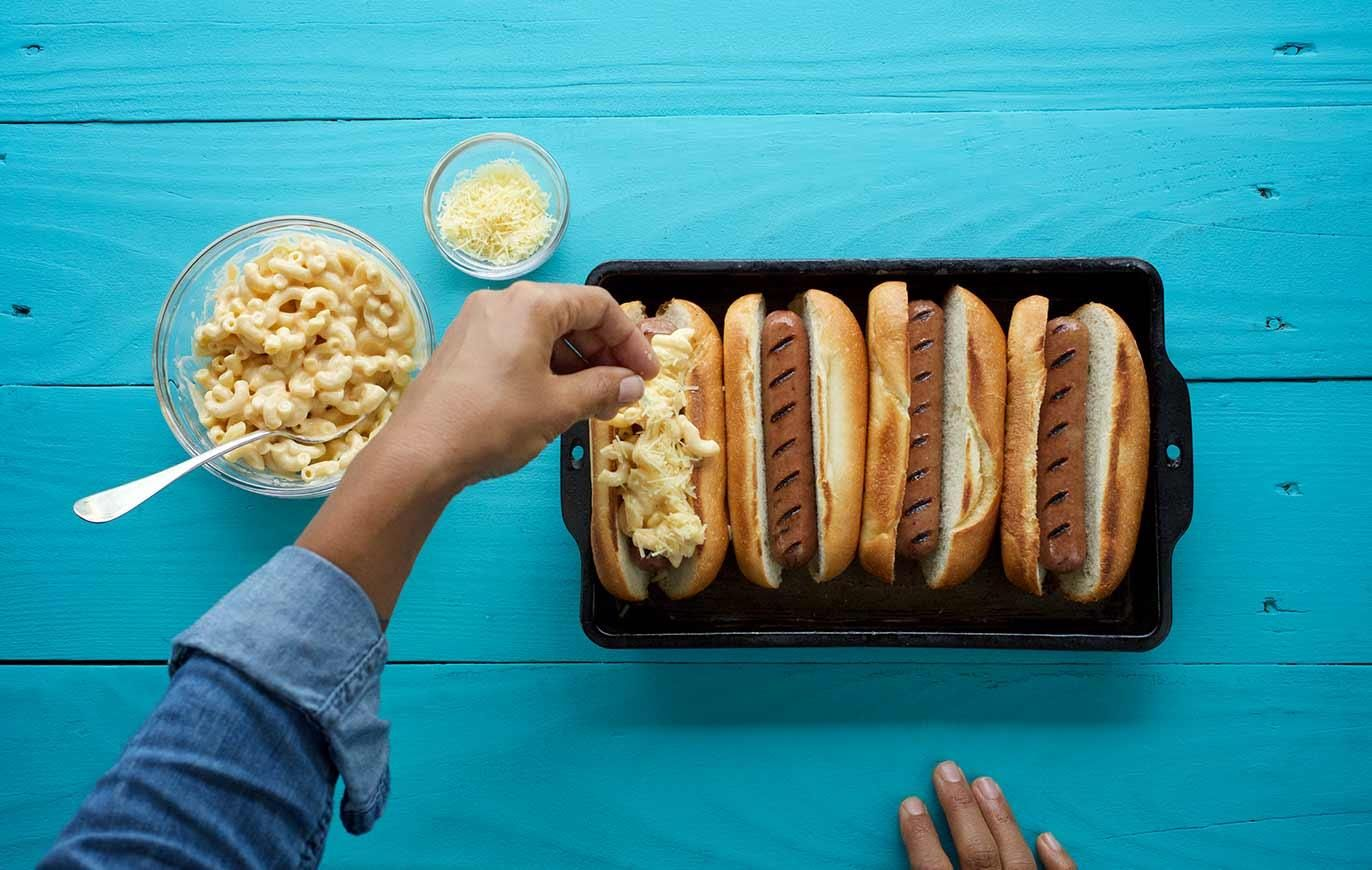 Mac and cheese hot dogs with organic valley recipe mac