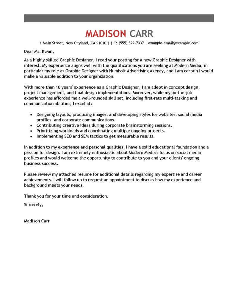Cover Letter Template Graphic Design | 2-Cover Letter ...