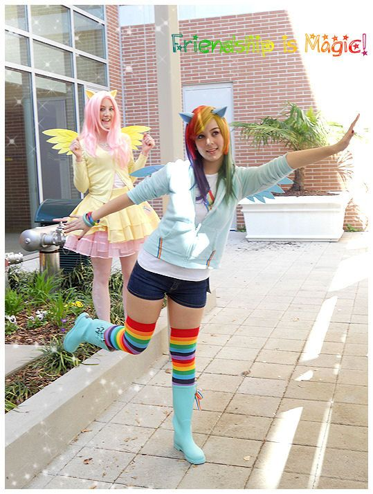 Pony Wings, Ears Kids and Adult Brony Cons Cosplay Accessories My Little Pony Halloween Costume Rainbow Dash Set