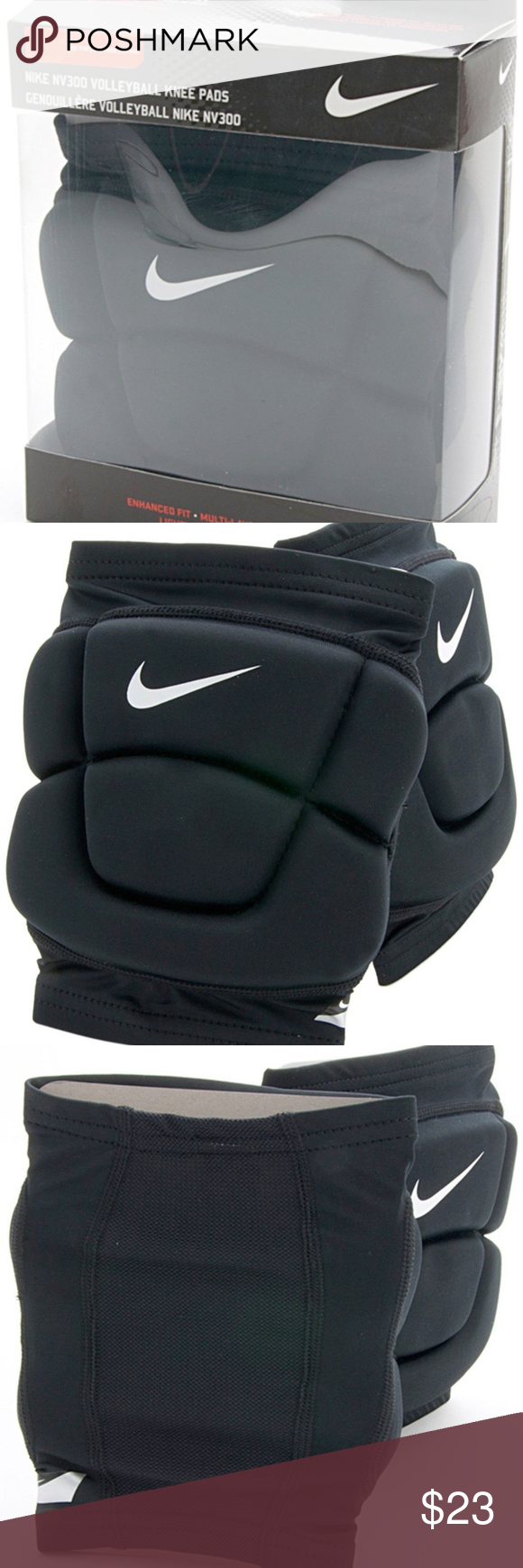 Nike Volleyball Knee Pads Nv300 Size Medium Large Nike Id Vb0068 Any Questions Please Ask Before Purchasing Volleyball Knee Pads Nike Accessories Black Nikes