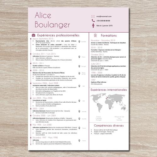 Valoriser Les Experiences Internationales Dans Un Cv Graine Graphique Le Cv Creer Un Cv Experience Professionnelle