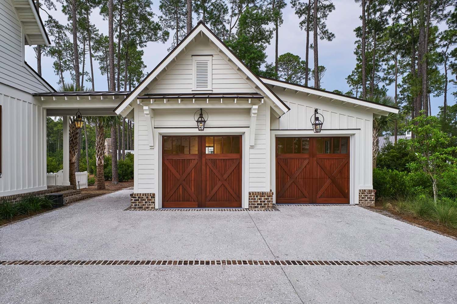 Exquisite south carolina farmhouse evoking a low country style small garage ideas small garage door