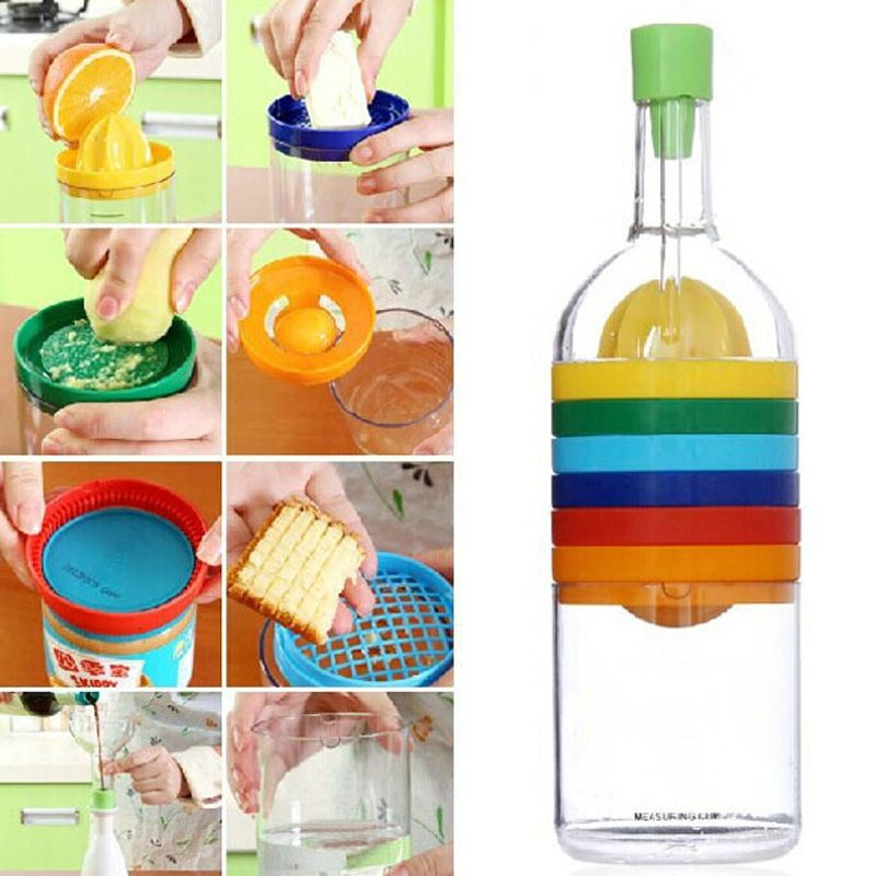 New Multi Functional 8 In 1 Kitchen Tool Set Multipurpose Kitchen Gadget Kitchen Tool Bottle Hot Sale Price Kitchen Gadgets Gifts Cooking Accessories Bottle