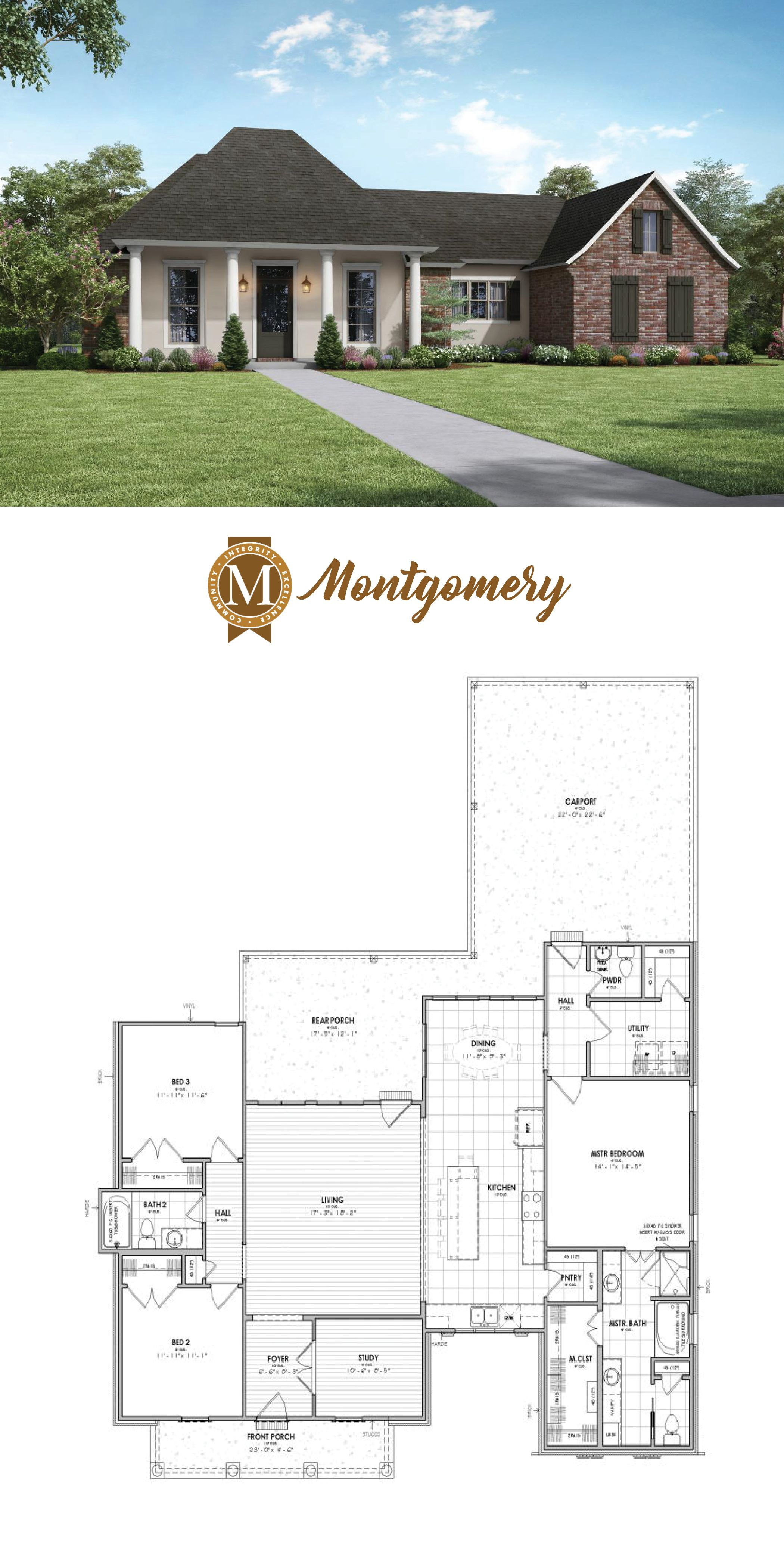 Montgomery Floor Plan Acadian House Plans Acadian Style Homes Cottage House Plans