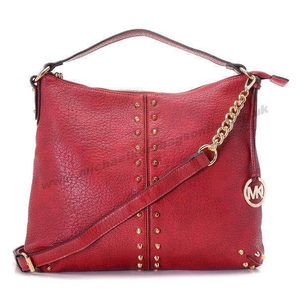 Michael Kors Tote Large Leather Stud Bag Sale Red