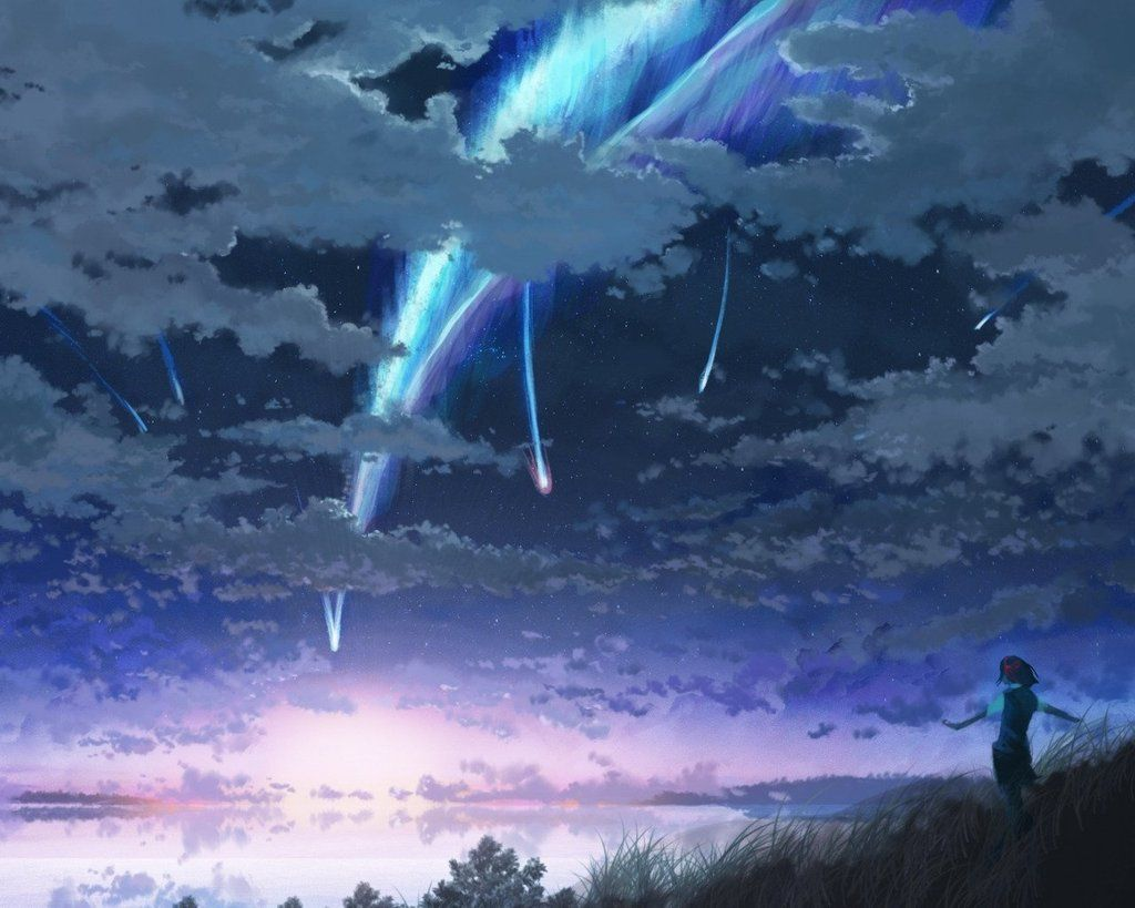 Sky Landscape Diy Paint By Numbers Kits Pbn96160 Kimi No Na Wa Wallpaper Name Wallpaper Your Name Wallpaper