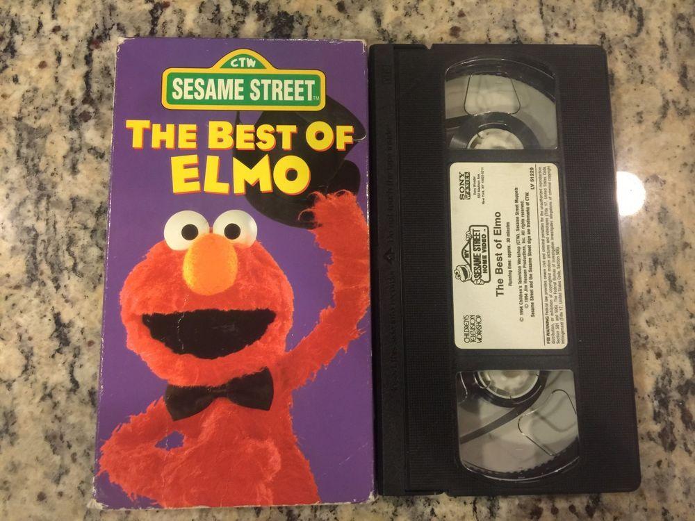 Sesame Street The Best Of Elmo Vhs 1994 Kid The O