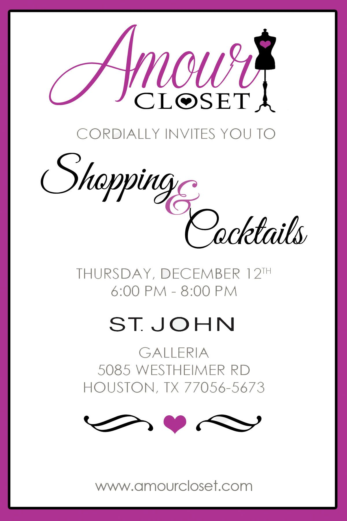 Private Shopping Event Invitation  Party Ideas  Invitation