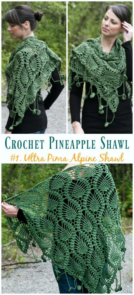 Crochet Pineapple Shawl Free Patterns Tutorials