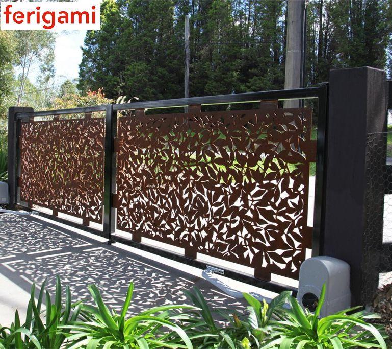 Les Portails Et Portillons Acier Corten De La Marque Ferigami En 2020 Acier Corten Corten Steel Garden Corten