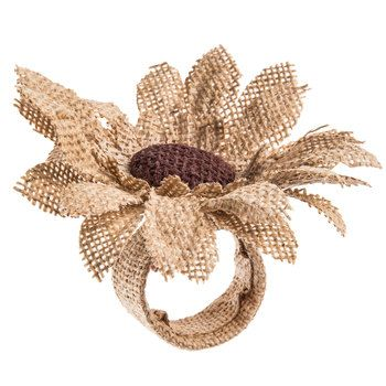 Burlap Sunflower Napkin Ring Sunflower Napkin Ring Napkin Rings Flower Petals