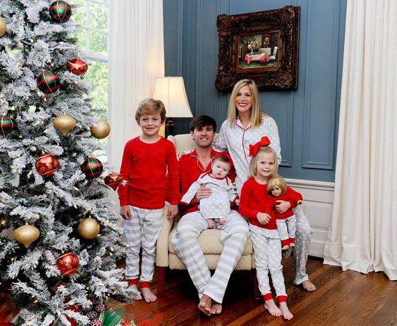 Adult christmas pajamas organic cotton family christmas pajamas