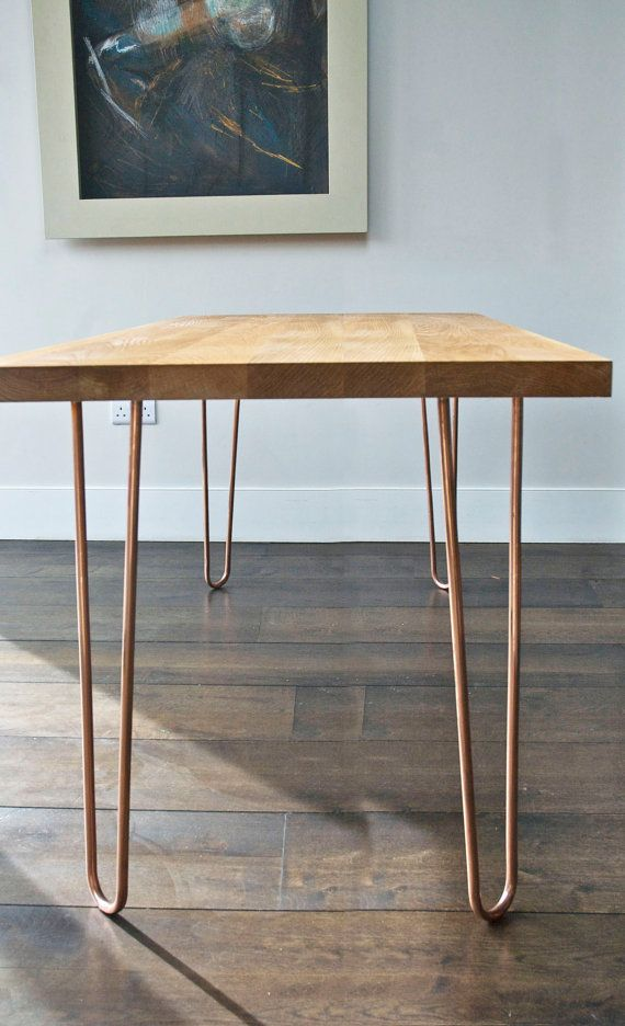 Items Similar To Set Of 4 Copper Hairpin Legs 72cm 28 Gold Hairpin Legs On Etsy Hairpin Legs Kitchen Table Gold Hairpin Dining Table