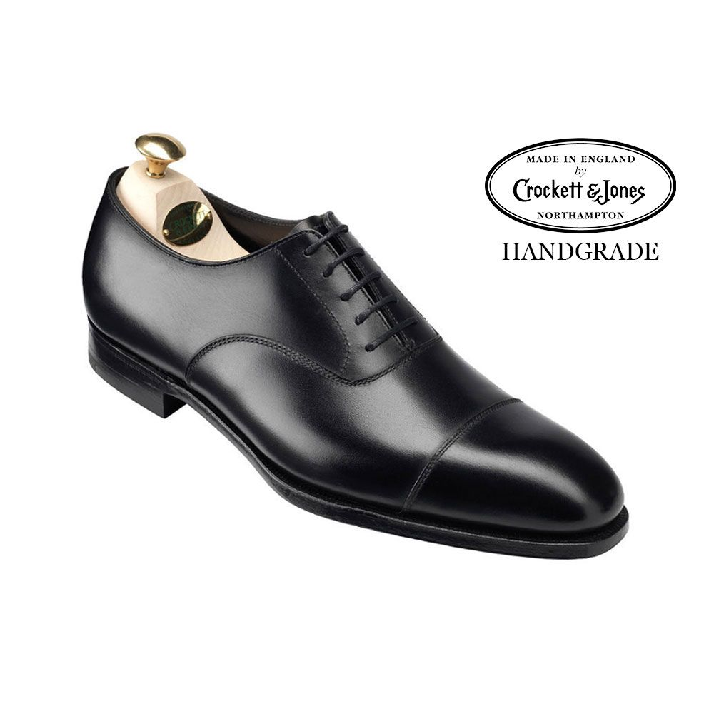 Audley in Black Calf, Men's Collection | Crockett & Jones