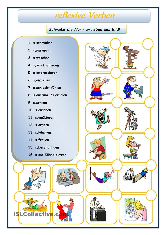 reflexive Verben | Deutsch, Deutsch lernen und Grammatik