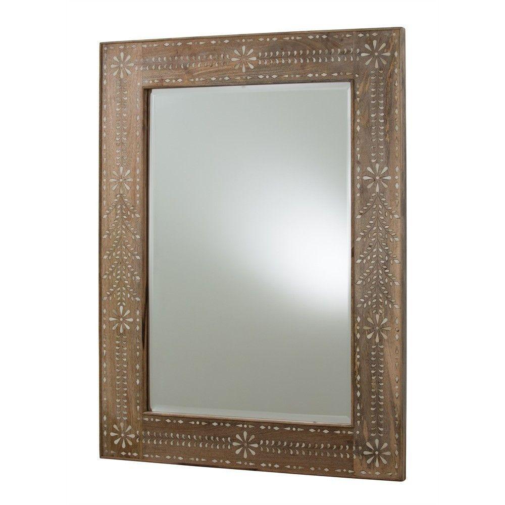 Wood + Bone Inlay Mirror
