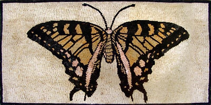 Red and Black Butterfly Mosaic