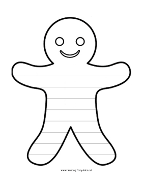 The Tasty Gingerbread Man Cookie In This Free Printable Writing